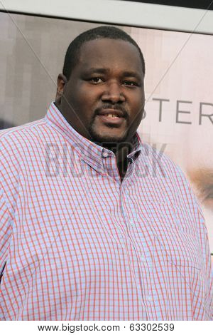 LOS ANGELES - APR 10:  Quinton Aaron at the