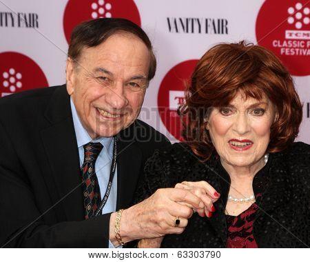 LOS ANGELES - APR 10:  Richard Sherman, Maureen O'Hara at the