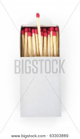 Matchbox isolated on the white background