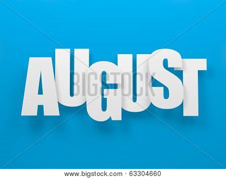 August on blue.