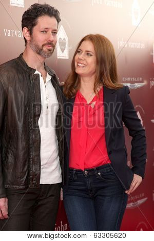 LOS ANGELES - APR 13:  Darren Le Gallo, Amy Adams at the John Varvatos 11th Annual Stuart House Benefit at  John Varvatos Boutique on April 13, 2014 in West Hollywood, CA