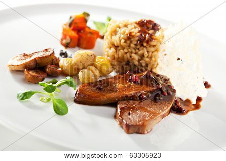 Risotto with Beef, Mushrooms and Potato