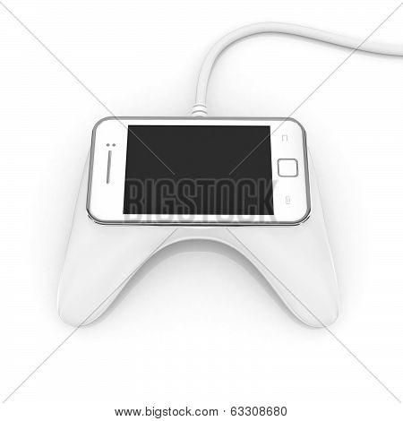 mobile gaming 3d concept - smart phone
