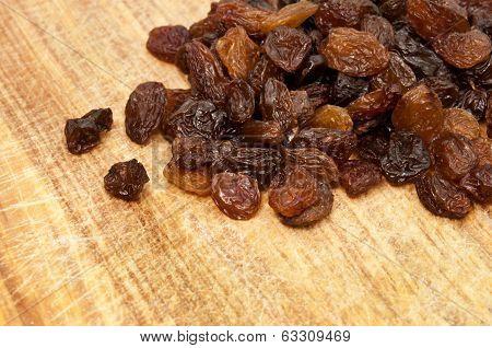 raisins on the table