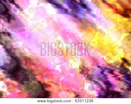 Multicolored Bokeh Abstract Background.