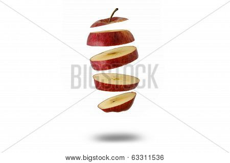 floating apple