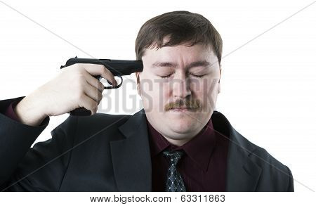 Man Aiming His Head