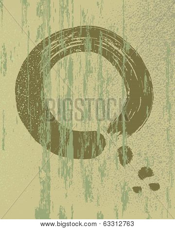 Zen Circle Vintage Wood Texture Background