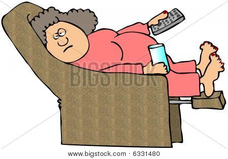Woman On A Recliner