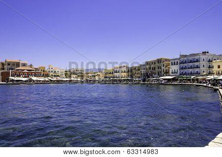 Chania Harbor Scenic View