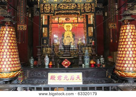 View With Lin Fung Temple (temple Of Lotus) In Macau