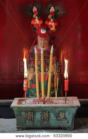 Chinese Holy Man In Lin Kai Temple