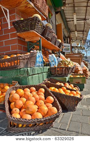 Oranges In The Jaffa Market