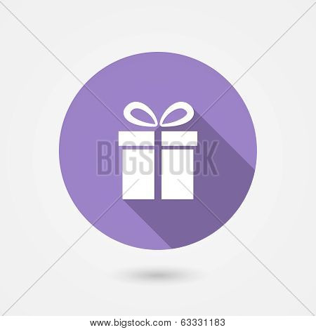 Gift icon with long shadow