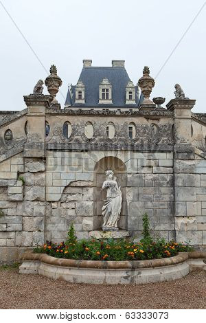 Valencay castle in the valley of Loire France