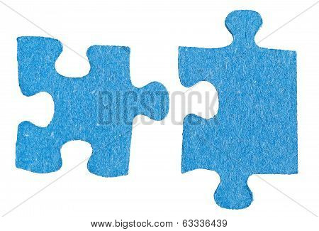 Two Sepatated Jigsaw Puzzle Pieces
