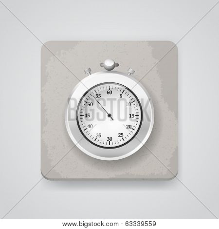 Stop watch. Vector icon