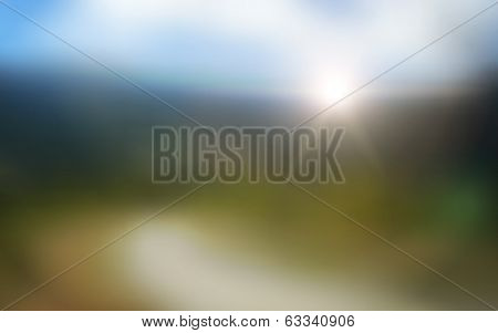 Abstract Blurred Sunset Vector Background