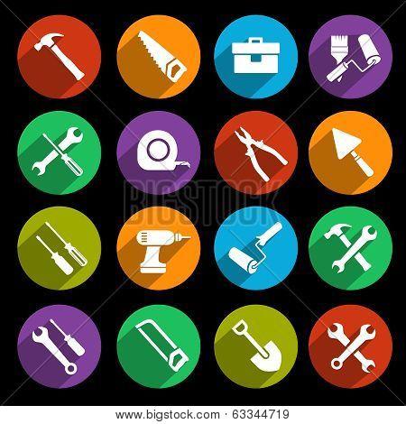 Tools Icons Flat