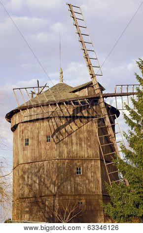 Wooden historic windmill