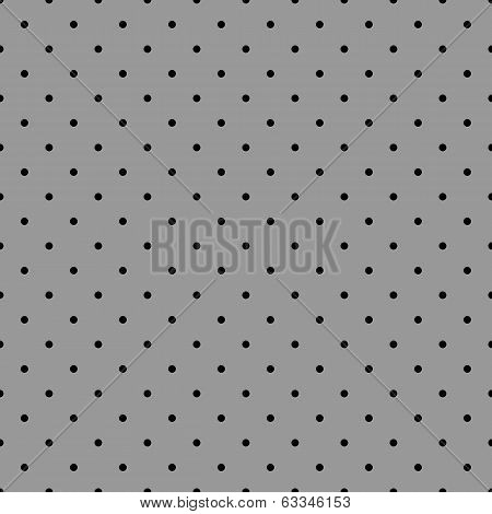 Seamless vector black and grey pattern or tile background with small polka dots