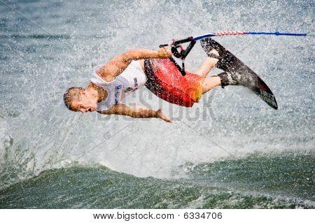 Waterski Shortboarder In Action