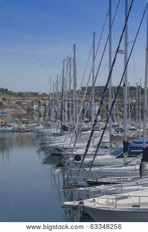 Sailboat in harbor