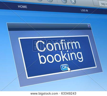 Confirm Booking Concept.