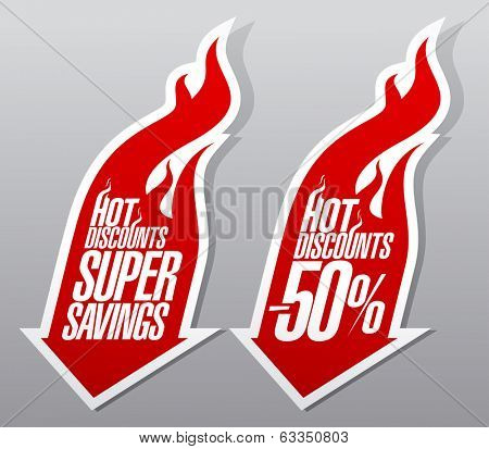 Hot discounts fiery pointers set.