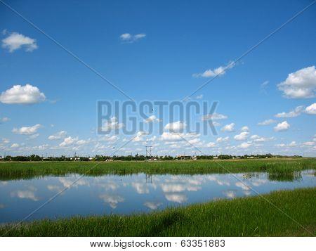 Lake, Sky And Bank