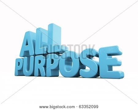 All Purpose icon on a white background. 3D illustration