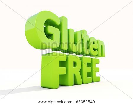 Gluten Free icon on a white background. 3D illustration