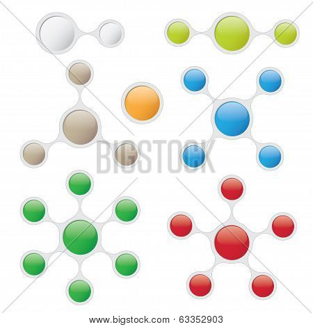 Info Graphic Templates In Bubble Style