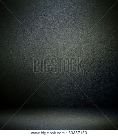 Abstract stonework background texture with old weathered dark stucco black paint stone cement wall in rural room Grungy cold rock surface in hard grime empty place with niello granite dull light floor
