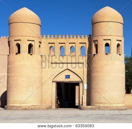 Wall Of Itchan Kala (ichon Qala) - West Gate (ata Darvoza) - Khiva (chiva, Heva, Xiva, Chiwa, Khiveh