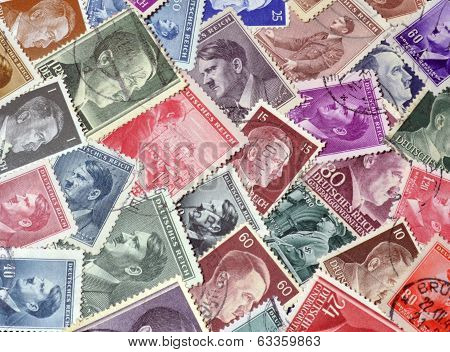 Adolf Hitler postage stamps