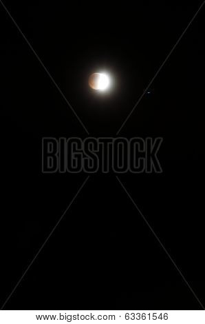 April 14, 2014 (4/14/2014) - Partial Blood Moon Lunar Eclipse