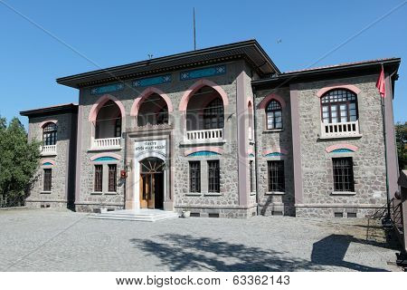 ANKARA, TURKEY - JUNE 25, 2012: Building of the first Turkish Grand National Assembly. Since 1981, the War of Independence Museum housed here