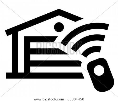 Garage remote control vector icon