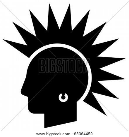Punk vector icon