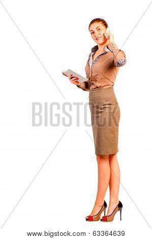 Woman The Dealer With Novelties From The World Of Technology