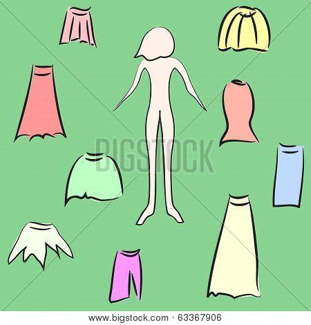 Wardrobe woman's skirt.