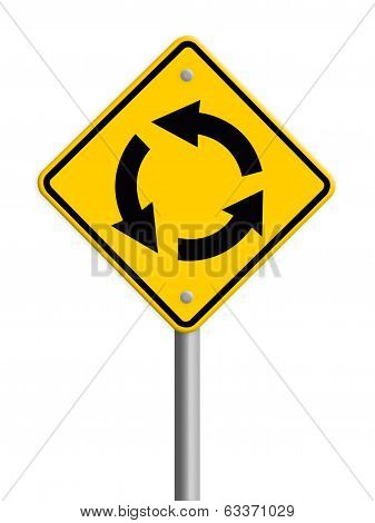 grunge traffic circle arrow sign