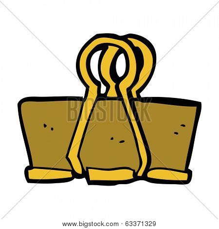cartoon brass clip