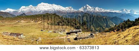 Panoramatic View From Jaljala Pass Of Dhaulagiri And Annapurna Himal - Nepal