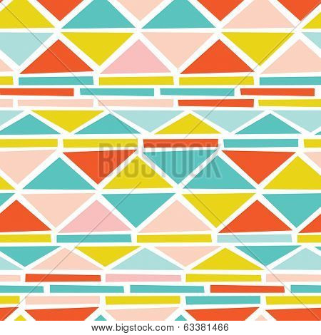 Seamless geometric triangle aztec pastel powder background pattern in vector