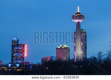 Skylon Tower, Casino And Hotels At Niagara Falls