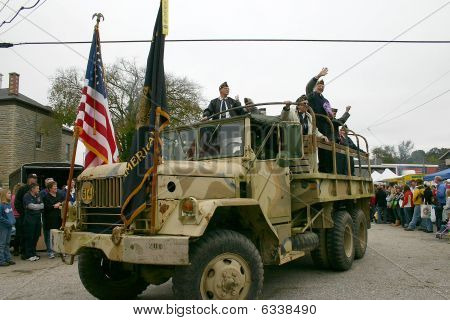 American Legion In Parade