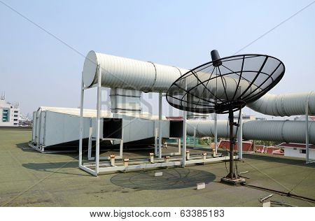 Industrial Air Conditioner And Satellite Dish