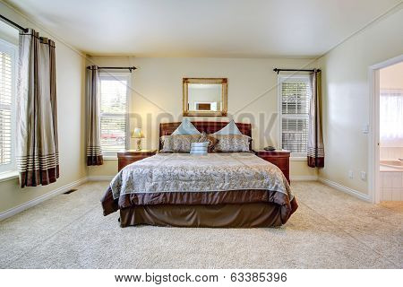 Elegant Bedroom With Beautiful Bedding